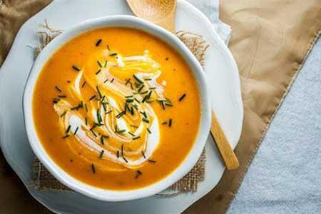سوپ هویج و زنجبیل